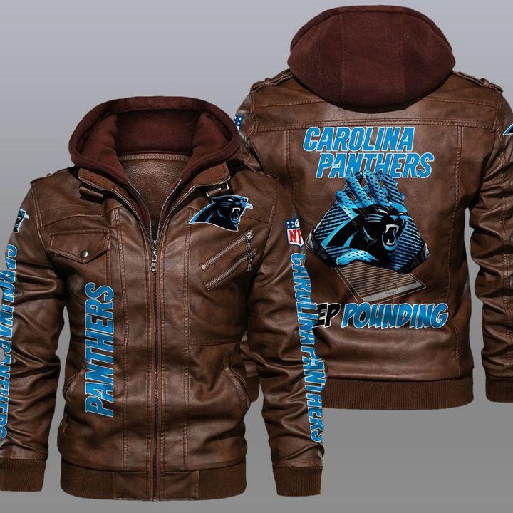 NFL Carolina Panthers leather jacket 2
