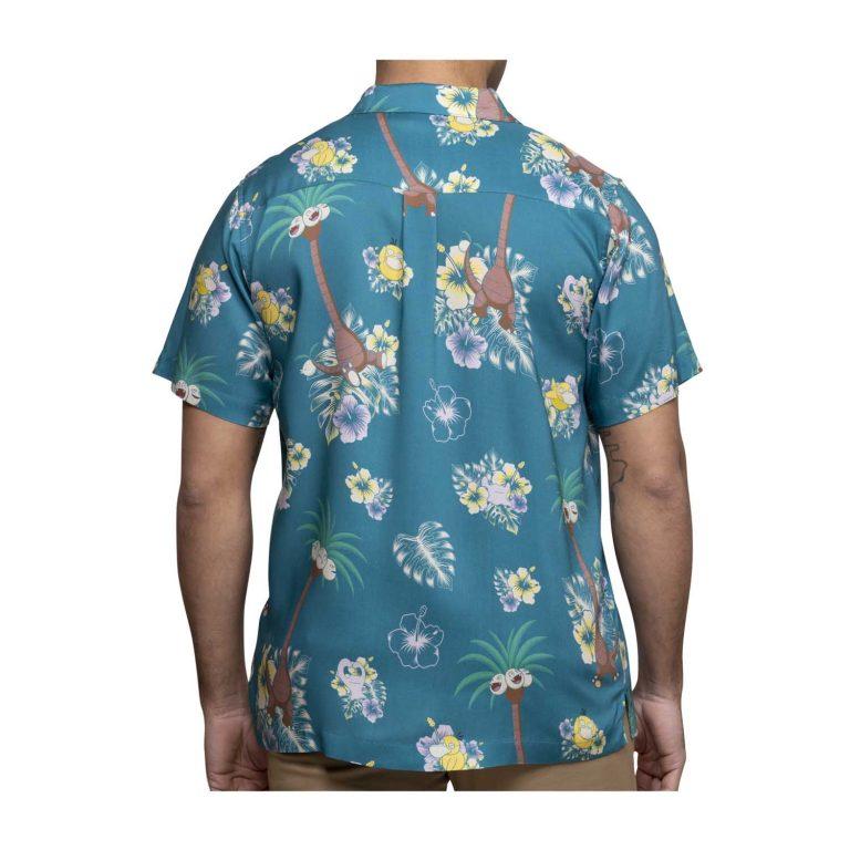 Pokemon tropical alolan exeggutor friends hawaiian shirt 1
