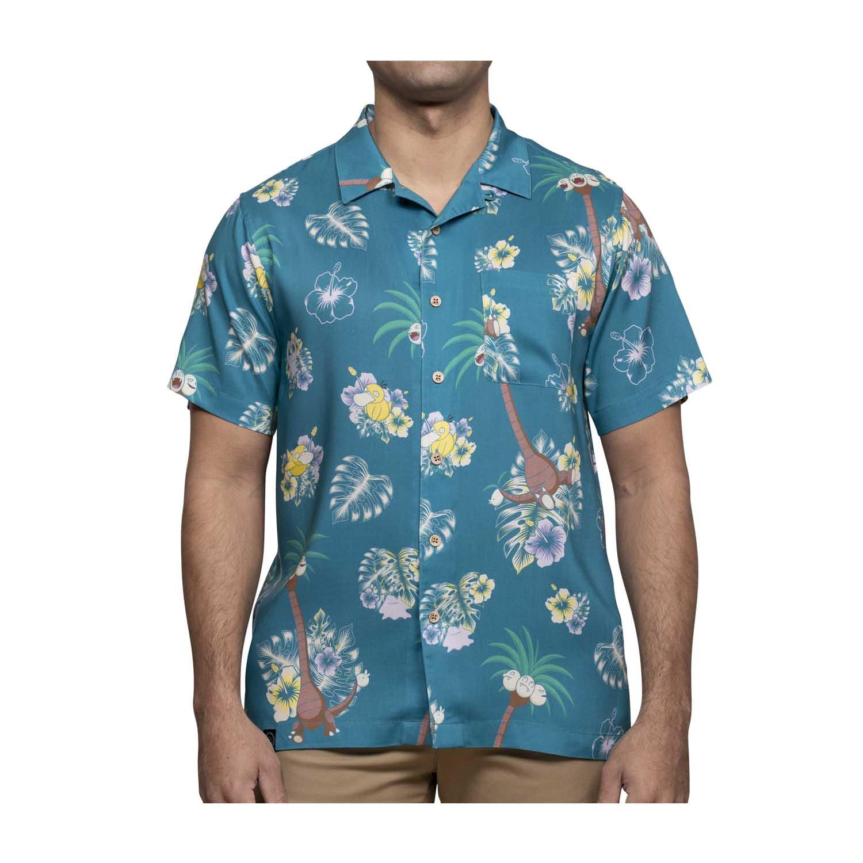 Pokemon tropical alolan exeggutor friends hawaiian shirt