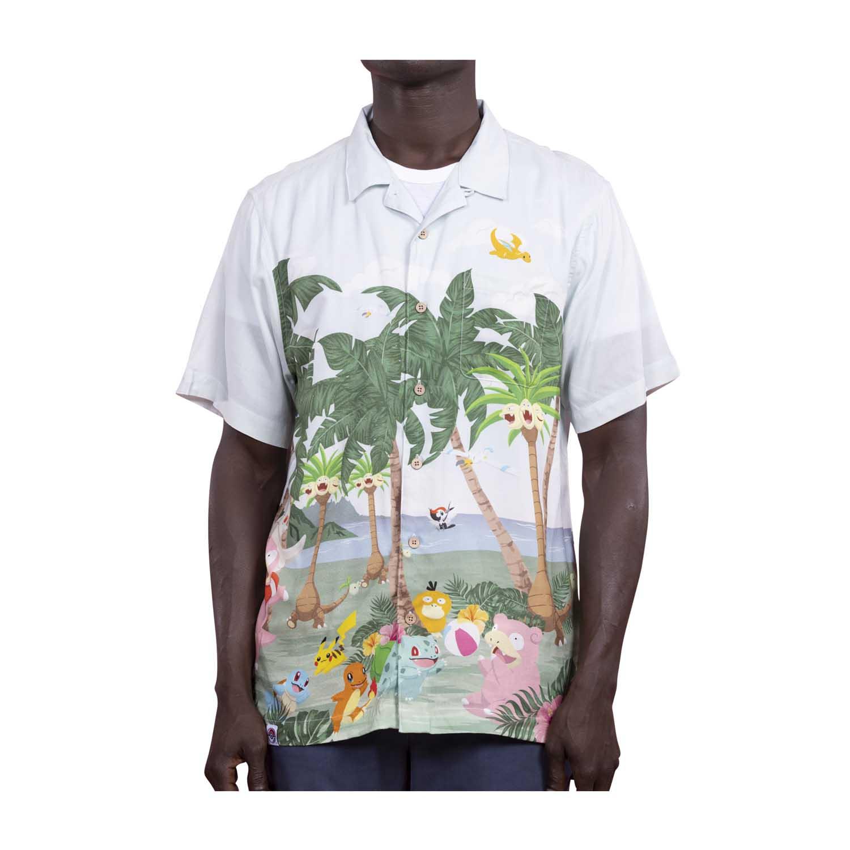 Pokemon tropical party hawaiian shirt