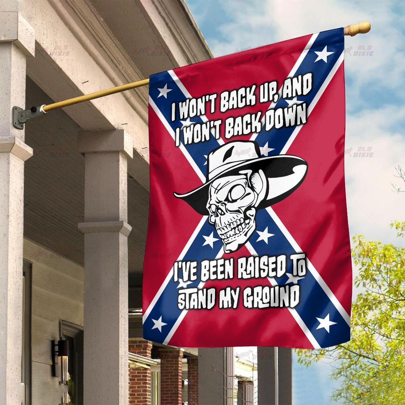 Rebel Skull I wont back up and I wont back down flag 1