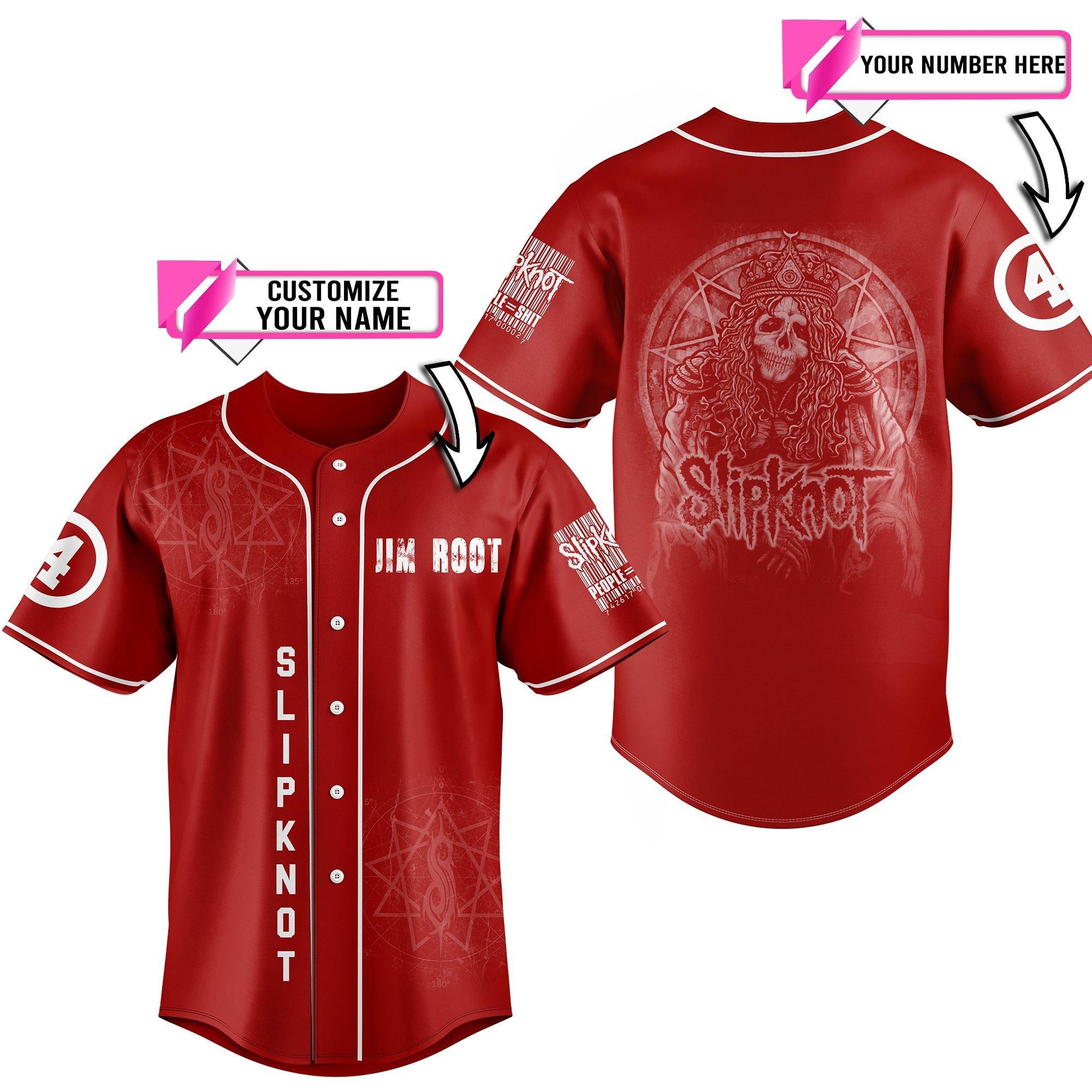 Slipknot custom name baseball jersey 4