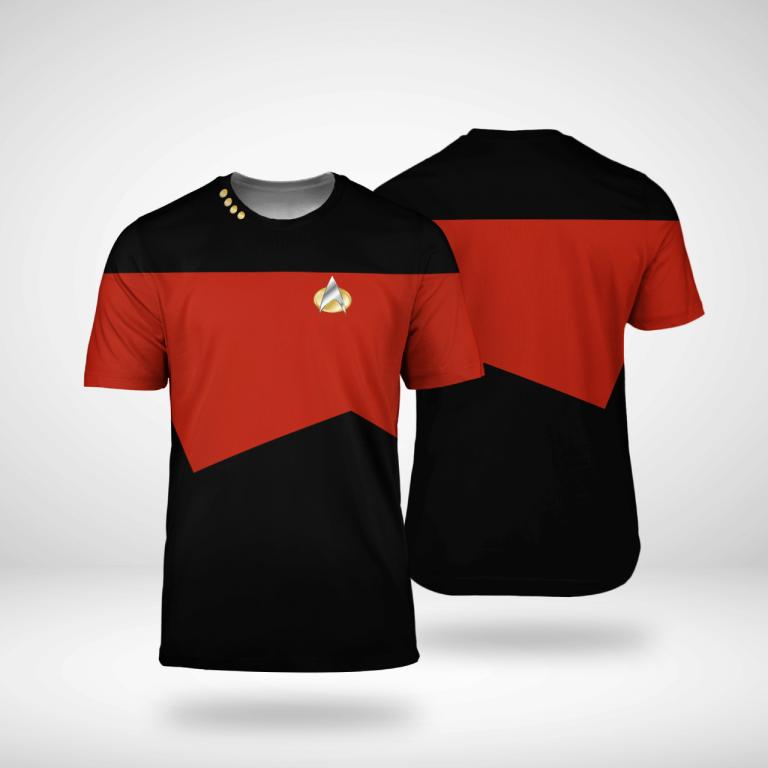 Star Trek captain 3d shirt 1