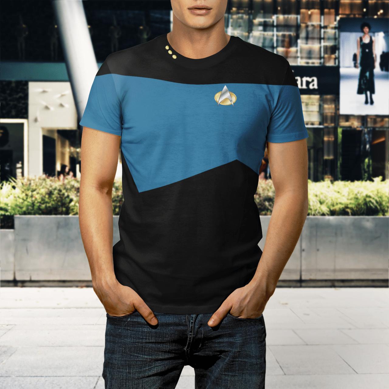 Star Trek science 3d shirt 1