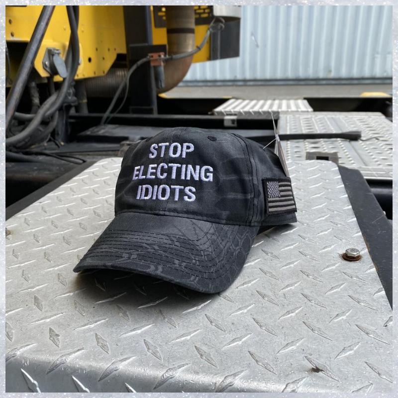 Stop Electing Idiots cap hat 1