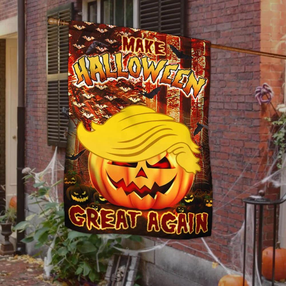 Trump Pumpkin make Halloween great again flag 1