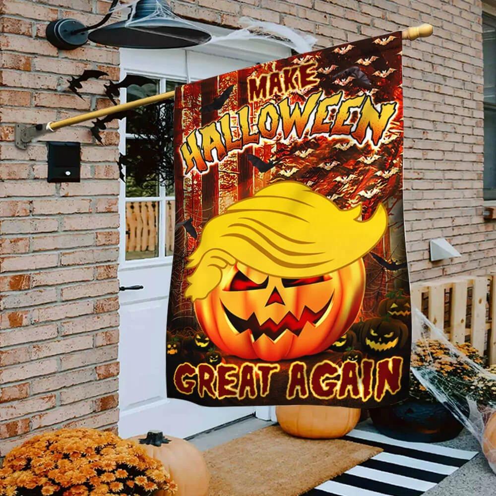 Trump Pumpkin make Halloween great again flag 3