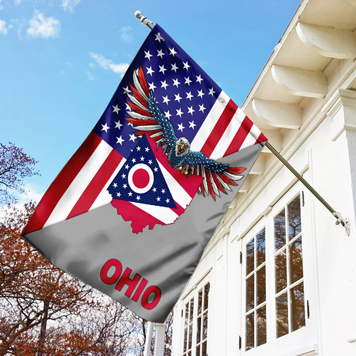 US State Ohio American Eagle Flag1