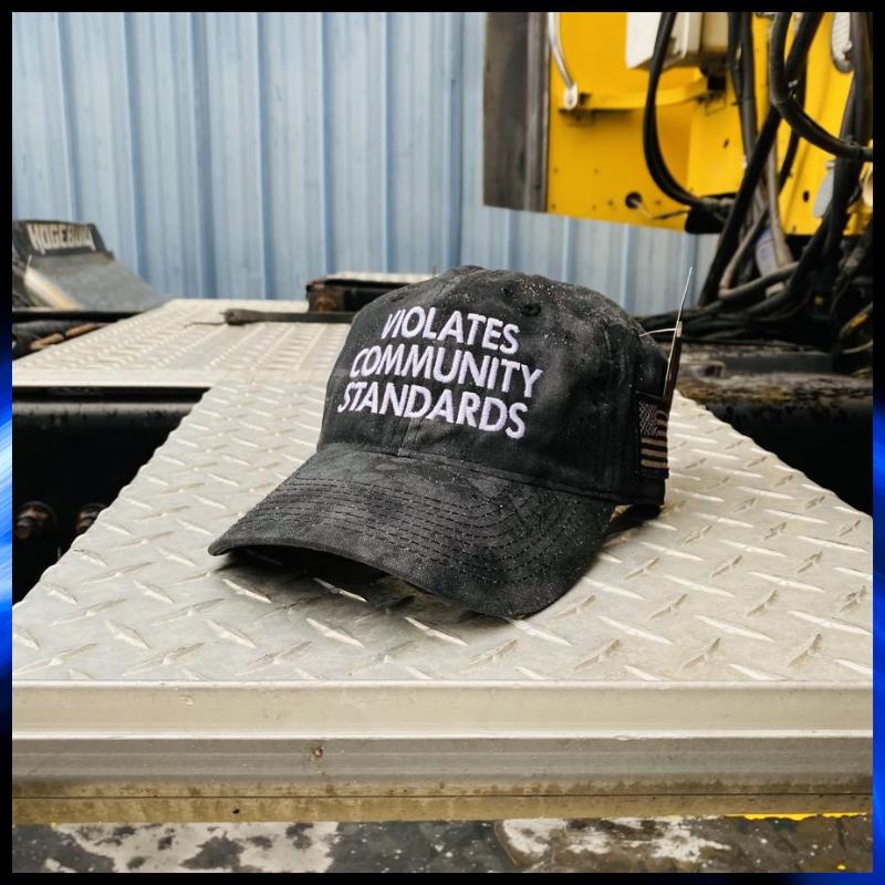 Violates Community Standards cap hat 1
