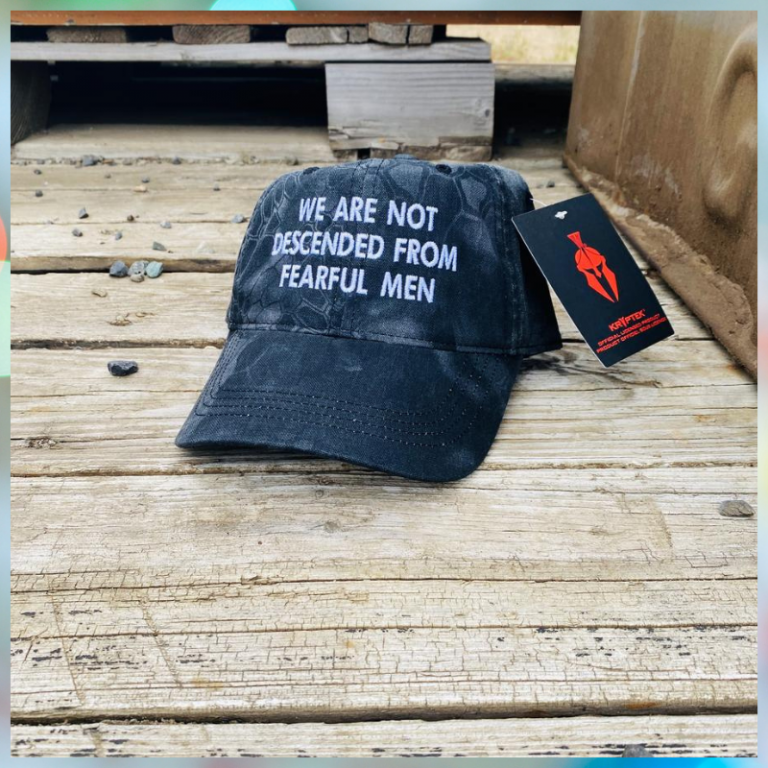 We Are Not Descended From Fearful Men cap hat 1